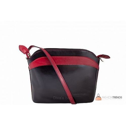 Итальянская кожаная сумка DIVAS BARBARA TR912 черная с красным