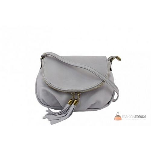 Итальянская кожаная сумка DIVAS Mimma TR961 серая