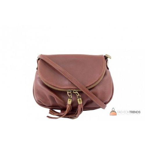 Итальянская кожаная сумка DIVAS Mimma TR961 коричневая