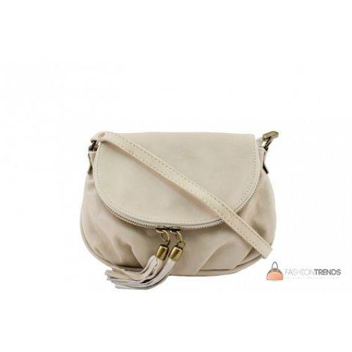 Итальянская кожаная сумка DIVAS Mimma TR961 бежевая