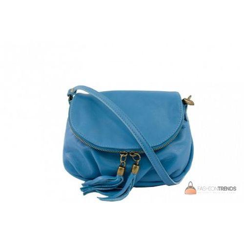 Итальянская кожаная сумка DIVAS Mimma TR961 бирюзовая