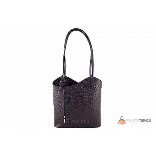 Итальянская кожаная сумка DIVAS Patty M8878 черная