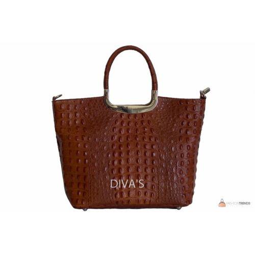 Итальянская кожаная сумка DIVAS DENISE M8871 коричневая