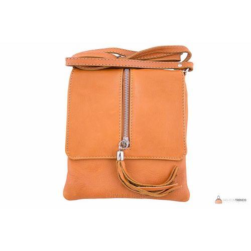 Итальянская кожаная сумка DIVAS SAMIRA TR931 оранжевая