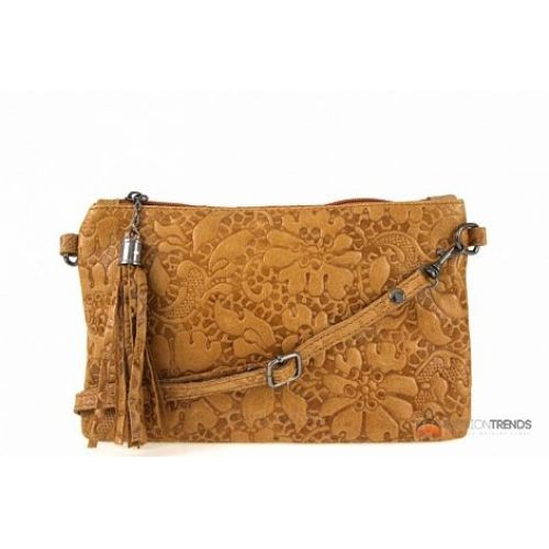 Итальянская кожаная сумка DIVAS Kisha TR104 коньячная