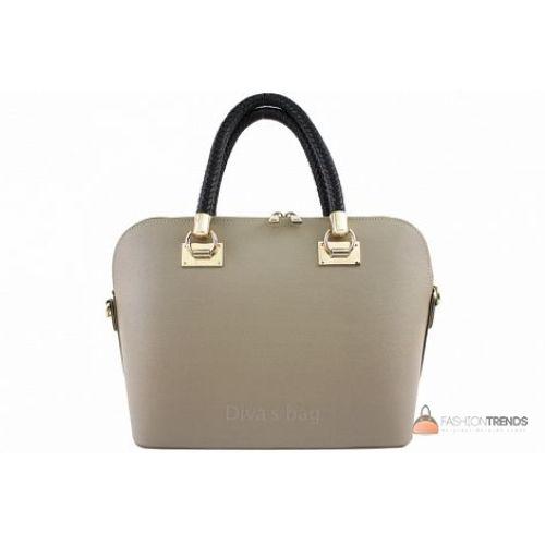 Итальянская кожаная сумка DIVAS Camelia M8937 тауп