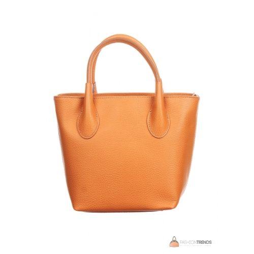 Итальянская кожаная сумка DIVAS Molly M8837 оранжевая