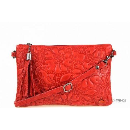 Итальянская кожаная сумка DIVAS Kisha TR104 красная