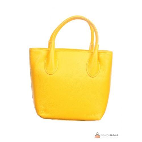 Итальянская кожаная сумка DIVAS Molly M8837 желтая