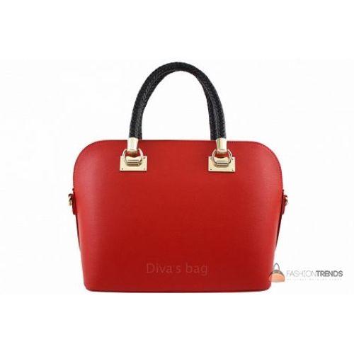 Итальянская кожаная сумка DIVAS Camelia M8937 красная