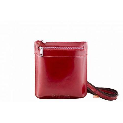 Итальянская кожаная сумка DIVAS Martina TR919 красная