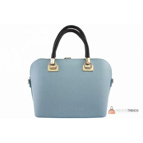 Итальянская кожаная сумка DIVAS Camelia M8937 лазурная