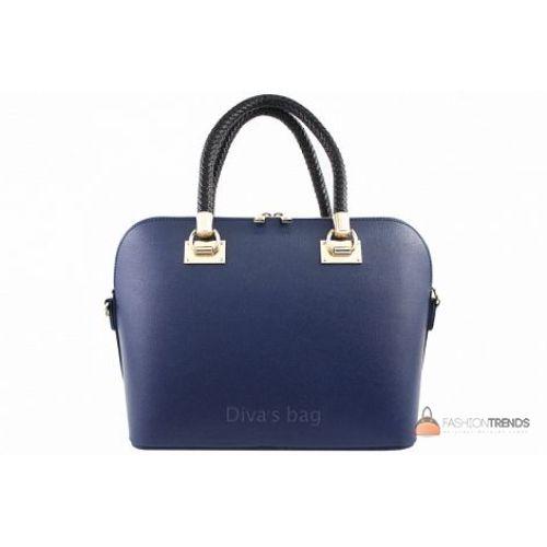 Итальянская кожаная сумка DIVAS Camelia M8937 синяя
