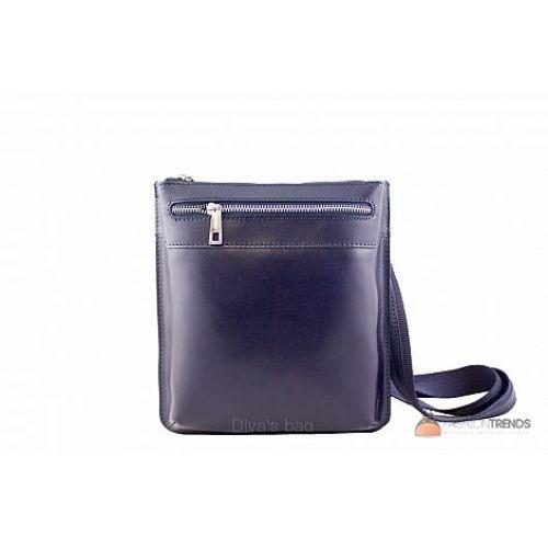 Итальянская кожаная сумка DIVAS Martina TR919 синяя