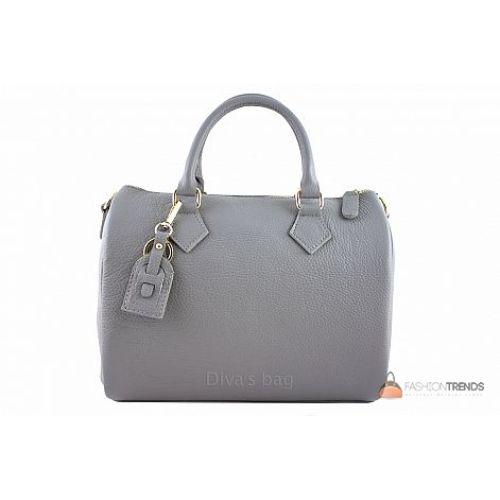 Итальянская кожаная сумка DIVAS DORETTA M8873 серая