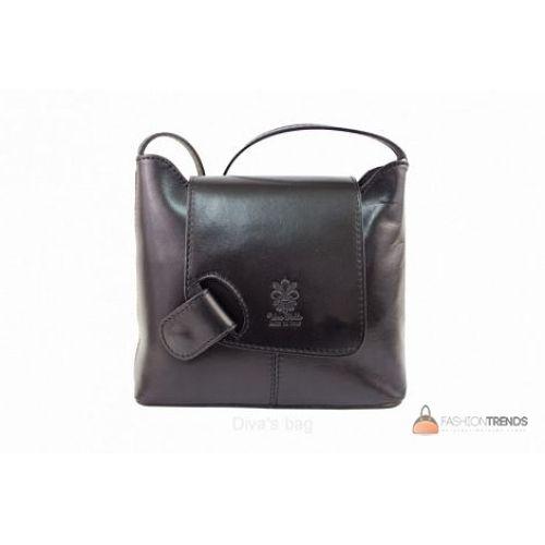 Итальянская кожаная сумка DIVAS Isabella S6927 черная