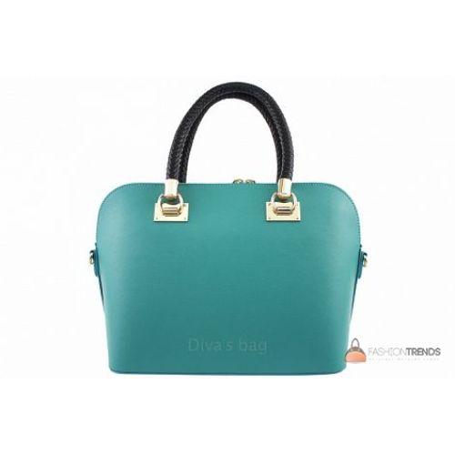 Итальянская кожаная сумка DIVAS Camelia M8937 аква