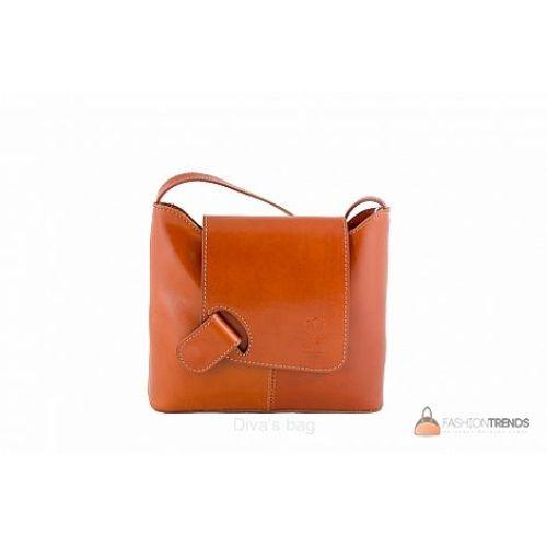 Итальянская кожаная сумка DIVAS Isabella S6927 коньячная