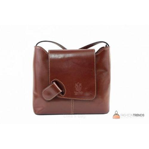 Итальянская кожаная сумка DIVAS Isabella S6927 коричневая