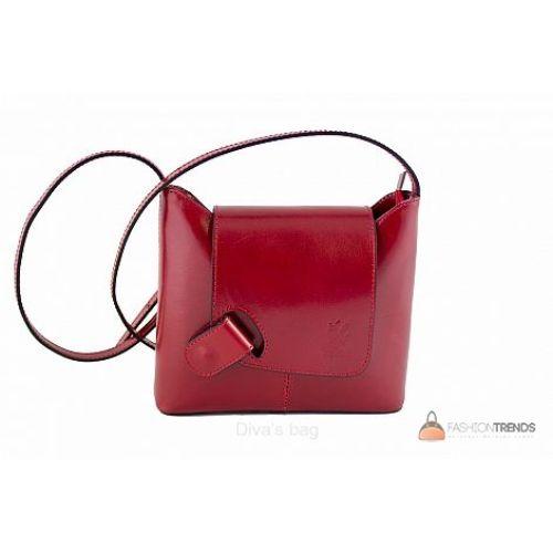 Итальянская кожаная сумка DIVAS Isabella S6927 красная