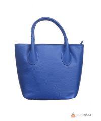 Итальянская кожаная сумка DIVAS Molly M8837 синяя