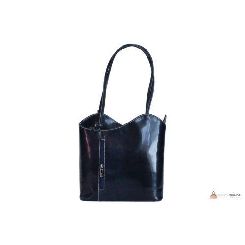 Итальянская кожаная сумка DIVAS CHIARA S6833 темно-синяя