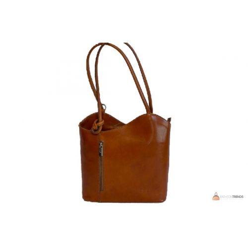 Итальянская кожаная сумка DIVAS CHIARA S6833 коньячная