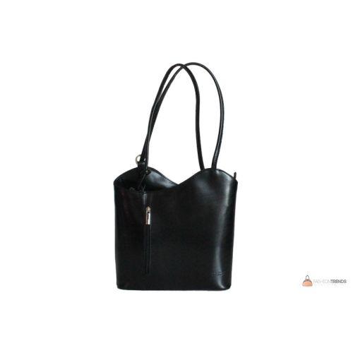 Итальянская кожаная сумка DIVAS CHIARA S6833 черная