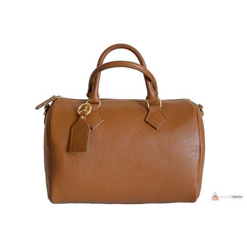 Итальянская кожаная сумка DIVAS DORETTA M8873 коньячная