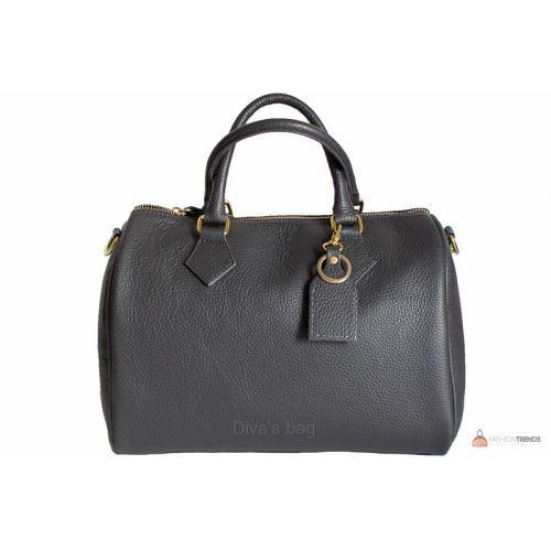 Итальянская кожаная сумка DIVAS DORETTA M8873 темно-серая