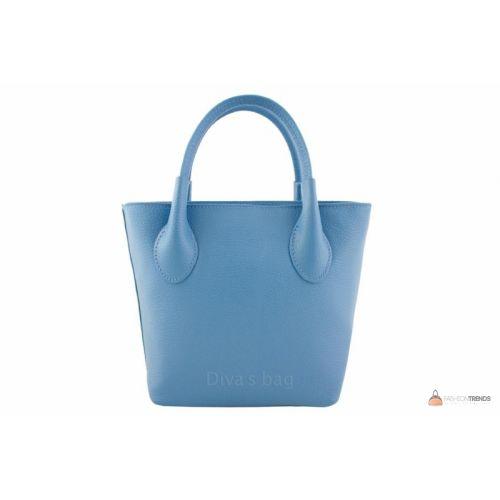 Итальянская кожаная сумка DIVAS Molly M8837 голубая