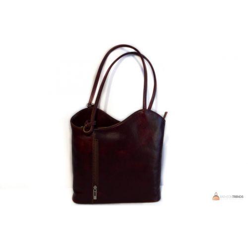 Итальянская кожаная сумка DIVAS CHIARA S6833 темно-коричневая