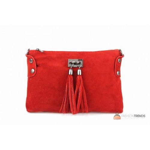 Итальянский замшевый клатч DIVAS Tianna TR106 красный