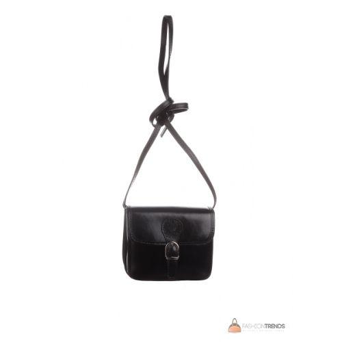Итальянская кожаная сумка DIVAS Alma TR956 черная