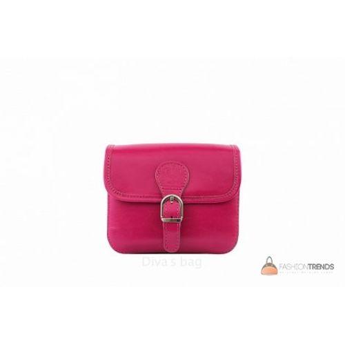 Итальянская кожаная сумка DIVAS Alma TR956 фуксия