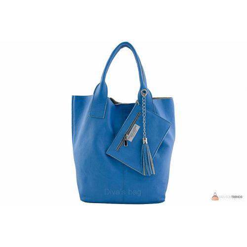 Итальянская кожаная сумка DIVAS CRISTINA S6905 лазурная
