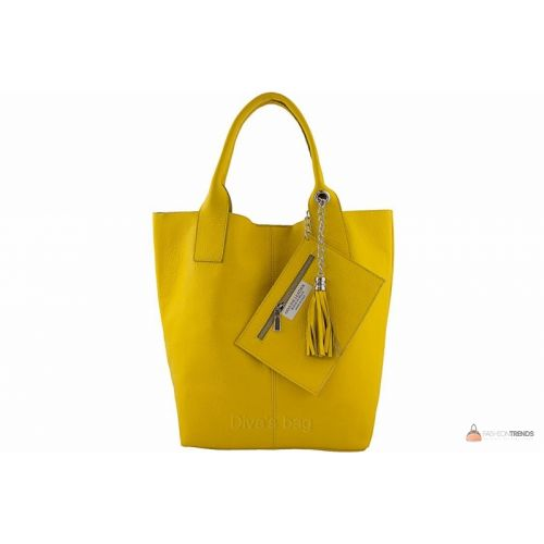 Итальянская кожаная сумка DIVAS CRISTINA S6905 желтая