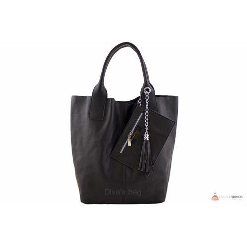 Итальянская кожаная сумка DIVAS CRISTINA S6905 черная