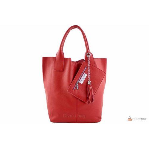 Итальянская кожаная сумка DIVAS CRISTINA S6905 красная