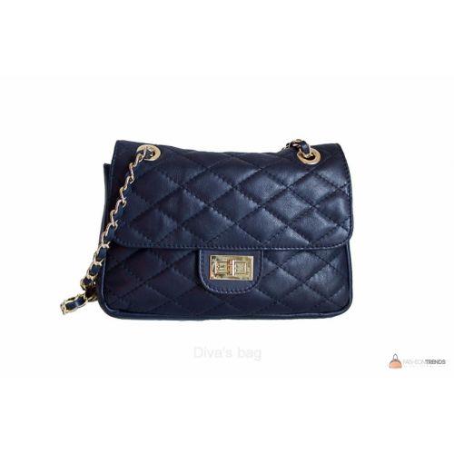 Итальянская кожаная сумка DIVAS VALENTINA TR924 синяя