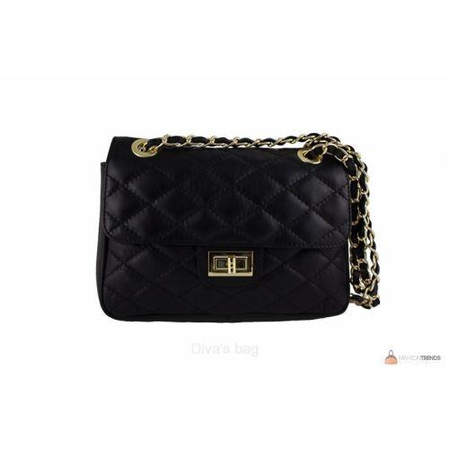 Итальянская кожаная сумка DIVAS VALENTINA TR924 черная
