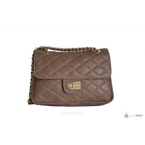 Итальянская кожаная сумка DIVAS VALENTINA TR924 тауп