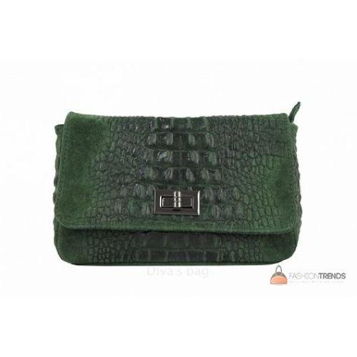 Итальянская кожаная сумка DIVAS Miranda TR975 зеленая