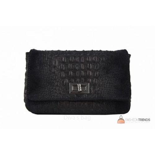 Итальянская кожаная сумка DIVAS Miranda TR975 черная