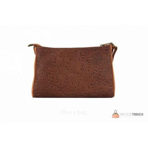 Итальянская кожаная сумка DIVAS Trasea TR 969 коричневая