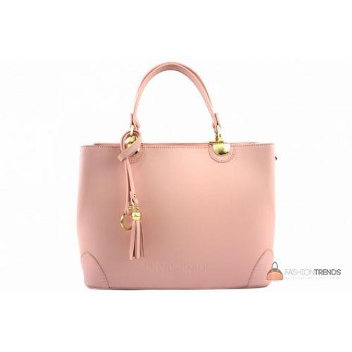 Итальянская кожаная сумка DIVAS Grazia M8938 розовая