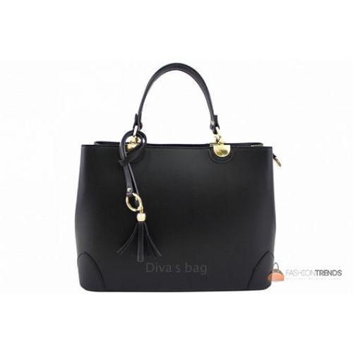 Итальянская кожаная сумка DIVAS Grazia M8938 черная