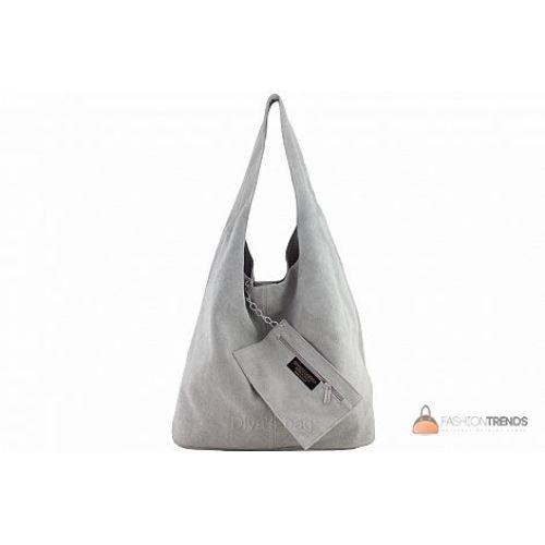 Итальянская замшевая сумка DIVAS MONICA BS15206 серая