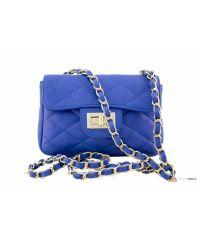 Итальянская кожаная сумка DIVAS Petra P2277 синяя