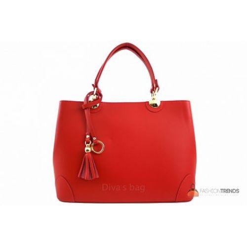 Итальянская кожаная сумка DIVAS Grazia M8938 красная